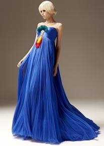 Atelier Spring 2011 Strapless Chiffon Blue Gown