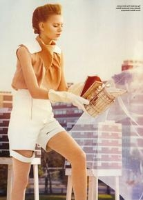Spring 2010 RTW Leather High-Waisted Shorts