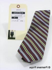 Maroon, Lilac, and Green Diagonal Pattern Tie
