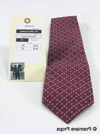 Burgundy Triangular Pattern Tie