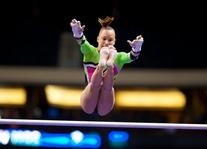 Activewear Green and Pink Competition Leotard