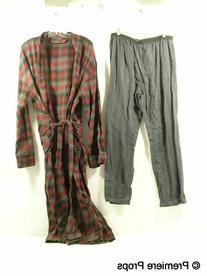 Dark Gray Pinstriped Pajama Bottoms