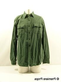 Green and Black Checkered Shirt