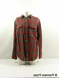 Red Flannel Button Up Shirt