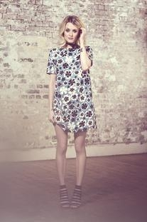 Fearne Cotton Graphic Floral Swing Dress