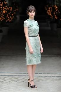 Resort 2012 Daisy Applique Short Sleeve Dress