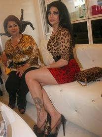 Two Tone Leopard Print Dress