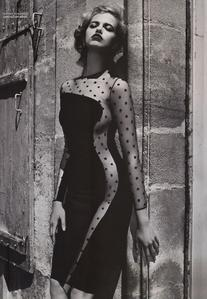 Fall 2011 RTW Black Polka Dot Cut Out Dress