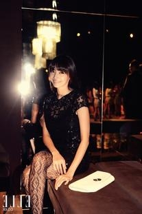 Fall 2010 RTW Black Sequined Cocktail Dress with Cutout