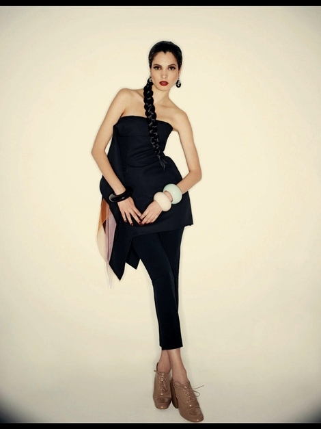 Spring 2013 Strapless Dress With Organza Inset