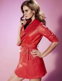 Resort 2012 Leather Trench Coat