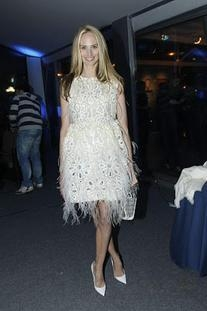Spring 2012 RTW Broderie Anglaise and Feather Dress