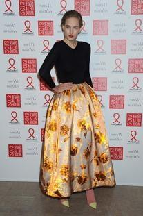 Spring 2013 RTW Satin Duchesse Floral Skirt