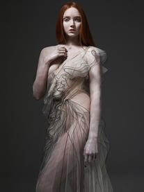 Spring 2010 RTW Silk Tulle Ruffle Gown