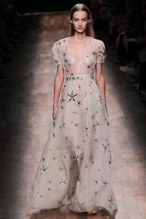 Spring 2015 RTW Star Embroidered Gown