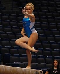 Blue Gymnastics Tank Leotard