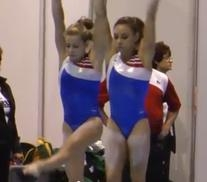 Adidas Red White and Blue Asymmetrical Leotard