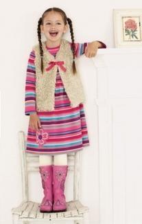 Pink Stripe Flower Dress