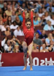 Red Stipes Leotard