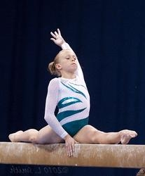 Stunning Flame White and Green Leotard