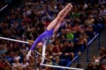 White and Purple Competition Leotard