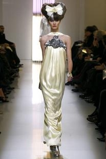 Spring 2010 HC Pale Yellow Silk with Silver Embroidery