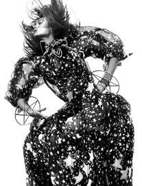Fall 2011 RTW Sheer Star Print Gown