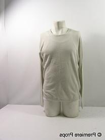 Eggshell Cashmere/Cotton Pullover Sweater
