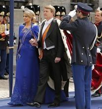 Taminiau Royal-blue Gown