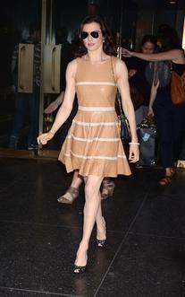 Striped Leather Dress