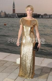 Resort 2012 Gold Short Sleeve Gown