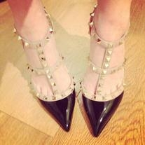 Studded Patent-leather Pumps