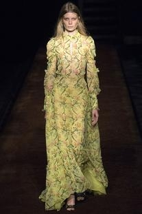 Spring 2016 RTW Sheer Print Gown