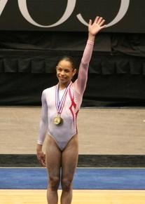 Pink and White Dramatic Tribal Gym Leotard