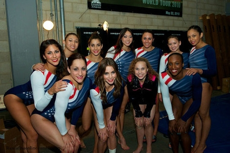 Adidas Red White and Blue Shooting Star Leotard