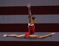 Adidas Red and White Workout Leotard