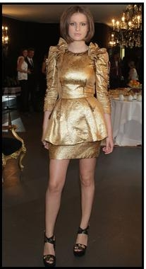 Fall/Winter 2009/10 Gold Brocade Dress