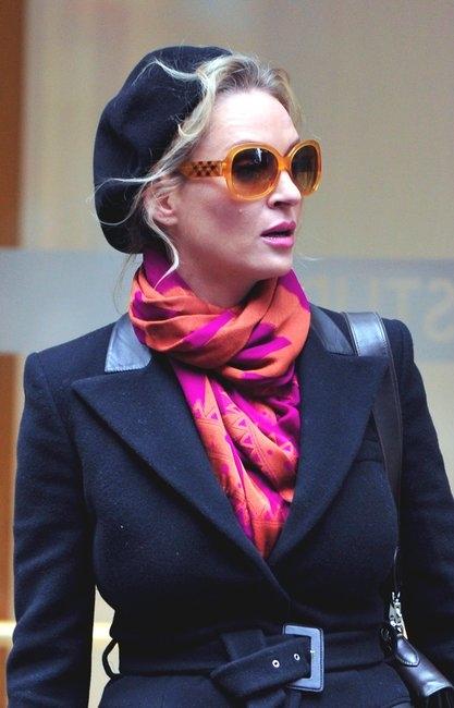 Transparent Haymarket Check Round Oversize Sunglasses