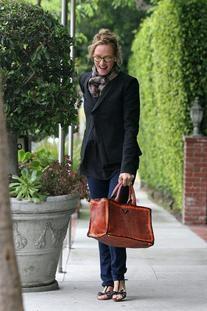 Mandarino and Nero Madras Leather Bauletto Bag