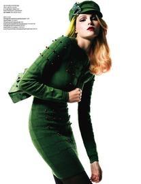 Pre-Fall 2010 Green Cashmere Skirt