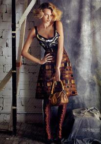 Fall 2010 RTW Wool Dress With Ruffled Bodice