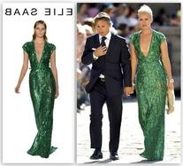 Green Paliettes Gown Spring Summer 2012