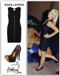 Black Bandage Short Sleeve Front Zip Dress