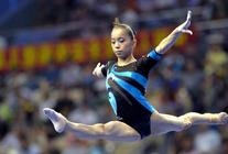 Activewear Blue and Black Mesh Competition Leotard
