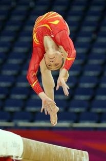 Red and Yellow Sashes Leotard